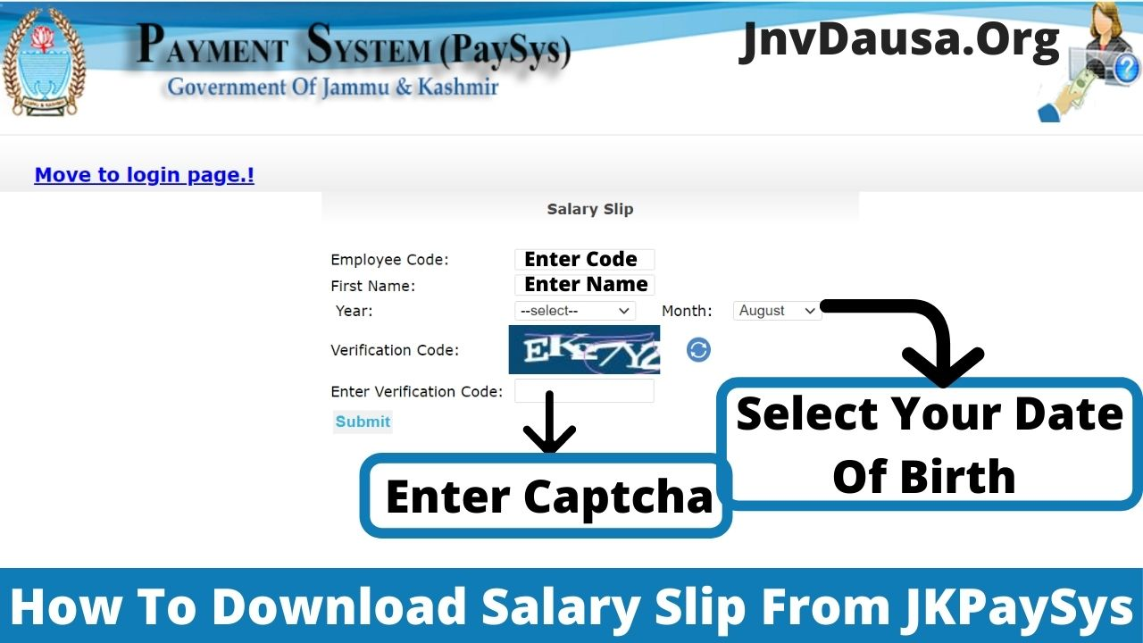 Download Salary Slip From JKPaySys